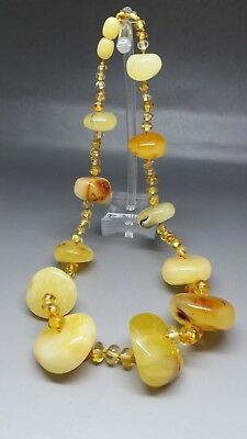 "18"" long Beautiful Genuine Baltic Amber Necklace Butterscotch/Citrine"