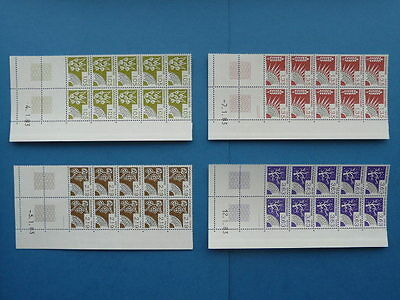 TIMBRES FRANCE PREOBLITERES 1983 Y&T N°178-179-180-181 NEUFS ** (coins datés)
