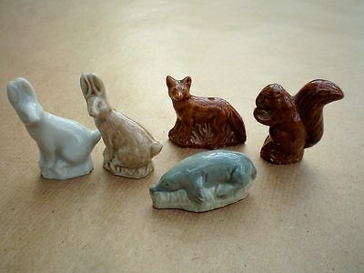5  WADE WHIMSIES from the WILDLIFE SERIES  1980 - 81