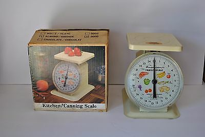 """Vintage Almond Metal """" American Family""""  Kitchen / Canning Scale   25 Lb."""