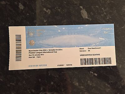 Man City Eds V Schalke 04 U21's International Cup 18.01.2015 Ticket