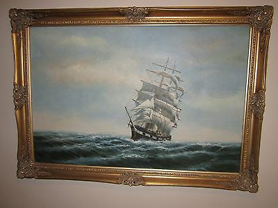 Sea Scape Oil Painting On Canvas - Framed