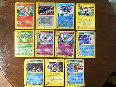 Pokemon - 11 Card Aquapolis and Skyridge Lot - Ex-NM- PSA Worthy