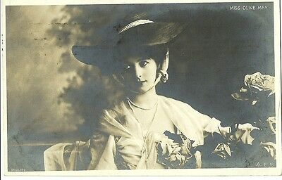 Miss Olive May 1910 Bassand Real Photo Postcard