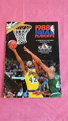 A Guide to the NBA 1988 Basketball Playoffs