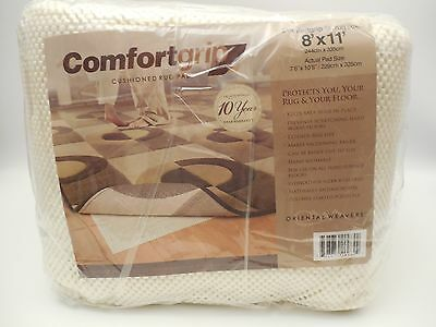 Comfort Grip Oriental Weavers Cushioned Rug Pad fits 8' x 11' Area Rug BRAND NEW