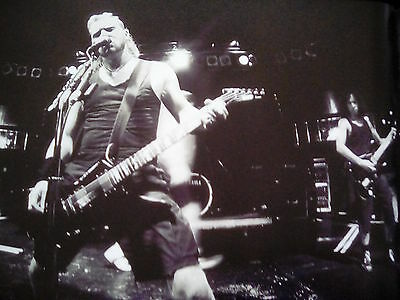 """Metallica London Astoria Soundcheck 1995 10x9"""" Picture to Frame? from 2015 Book"""