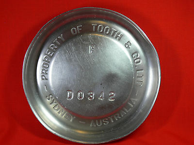 UNIQUE Ash/Drip Tray cut from a TOOTHS BEER Stainless Steel Keg - BAR & MAN CAVE