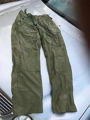 ORIGINAL ISSUE early 1960 OLD STYLE 60 PATTERN OG COMBAT Trousers Rare