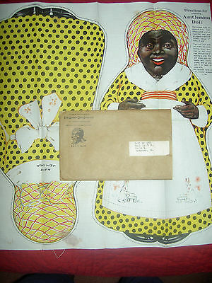 1929 Quaker Oats Co. Aunt Jemima, BLACK cloth premium doll in mailing envelope