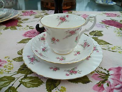 Pretty Richmond  English China Trio Tea Cup Saucer Plate Rose Time