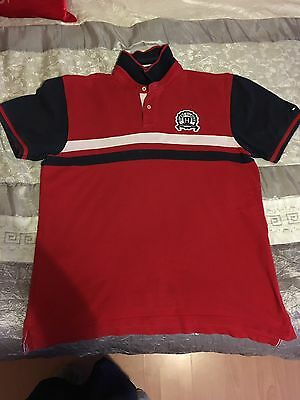Mens Tommy Hilfiger Red T Shirt Size Xl