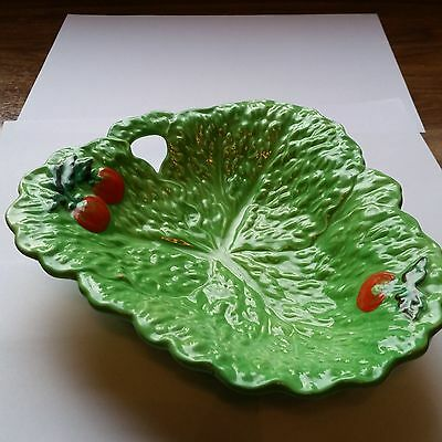 vintage beswick cabbage leaf with tomatoes dish