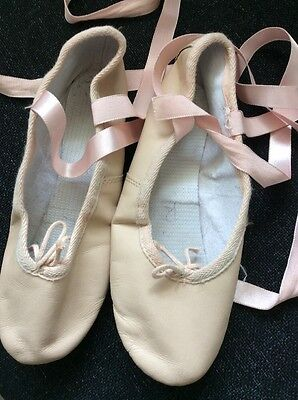 Girls Soft Ballet Shoes Size 3