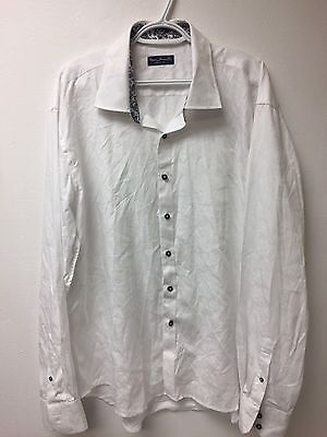 Marco Brunelli Men's Dress Shirt White Size 2XL 100% Cotton