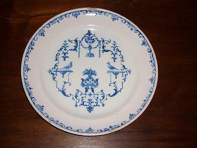 A Good Moustiers Faience Plate With Berainesque Design, France 18Th Century