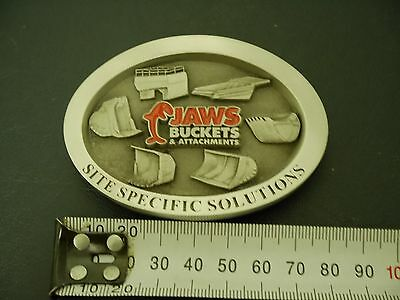 Jaws Buckets and Attachments - pewter belt buckle - mining memorabilia