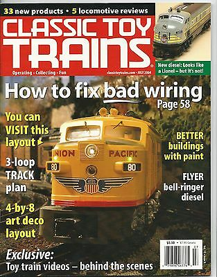 CLASSIC TOY TRAINS For the Collector & Operator July 2004 Lionel Boys & Girls