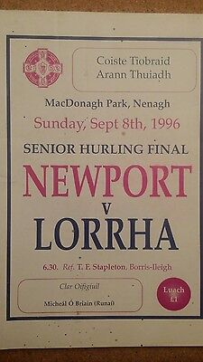 GAA Tipperary North County Final 1996