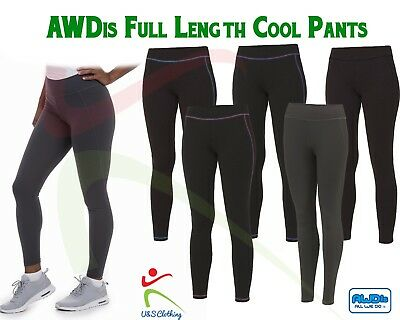 Ladies Full Length Cool Athletic Pant Sports Active Girls Gym Running Leggings