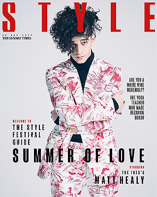 UK Matt Healy Sunday Times Style Magazine Cover Clippings The 1975 Promo