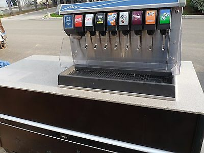 """""""FOLLETT"""" COMMERCIAL 8 HEAD SODA/ICE DISPENSER  with Counter & Water Filter"""