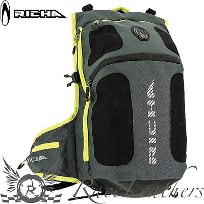 Richa Tophelmet Grey Fluo Motorcycle Motorbike Bike Rucksack Backpack Ruck Sack