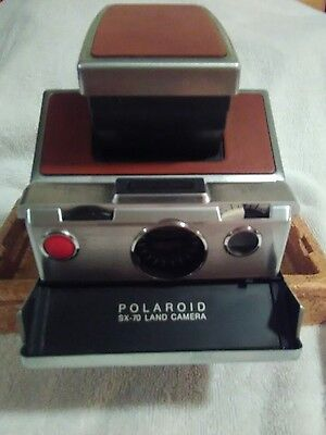 Vintage Polaroid SX-70 Land Camera with Manual (Untested)