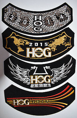 2014,2015,2016,2017 HOG Harley Davidson Patches Brand New