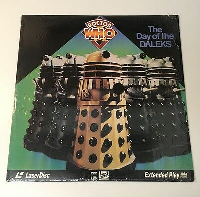 Vintage DOCTOR WHO 'DAY OF THE DALEKS' 1972 Laserdisc extended play