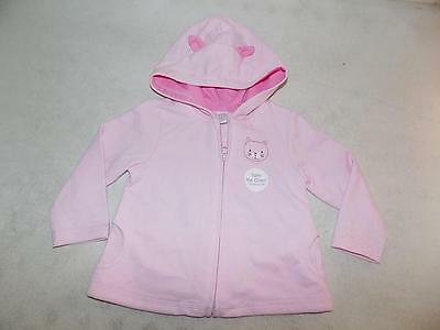 Carter's Baby Girls Pink Hoodie Jacket Cotton NWOT Size 12M