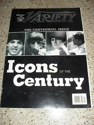 Variety Magazine Nov 17, 2005 Icons Of The Century with the Beatles on the Cover