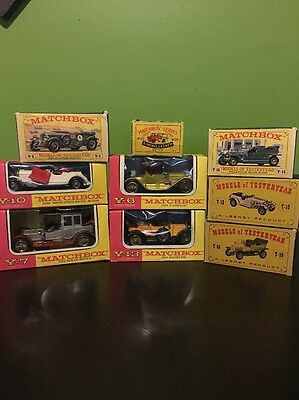 Large Lot Of Matchbox Die cast  Cars In There Boxes