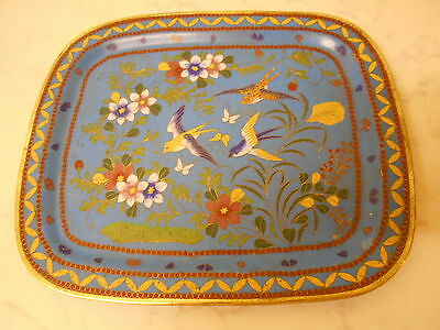Chinese Cloisonne Oriental Tray.