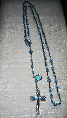 VINTAGE Lourdes Anniversary lucite Bubble Rosary in very good condition