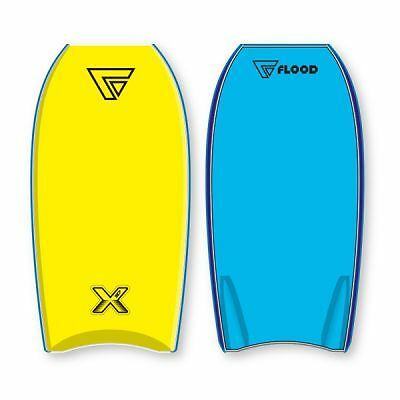 "Bodyboard Flood Dynamx 37"" Yellow Blue + Leash"