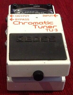 Boss Chromatic Guitar Pedal Tuner Effects Pedal TU-3