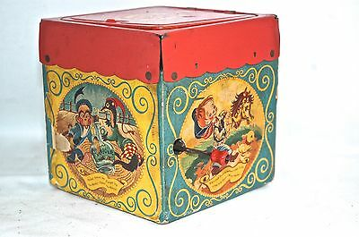 Vintage Mattel Tin Music Toy ** JACK IN THE BOX ** w/ Jolly Tune the Clown WORKS