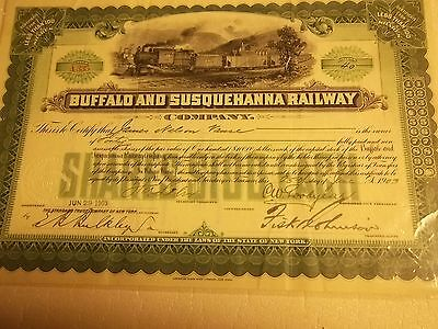 1903 Buffalo Susquehanna Railway Company Stock Rr Train