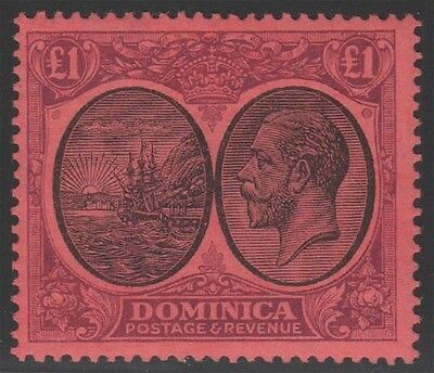 DOMINICA KGV 1923-33 Issue £1 High Value Scott 85  SG91  Never Hinged