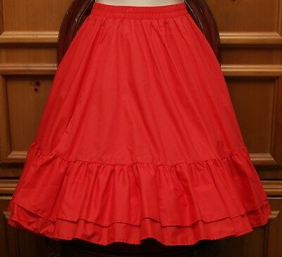 New Malco Modes Square Dance Skirt Red Petite Partners Please 3237