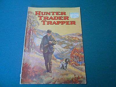 Hunter Trader Trapper Magazine September 1935, Trapping, Hunting, Fishing