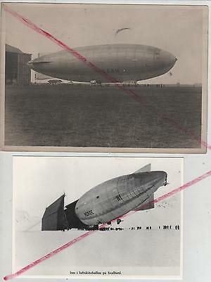 photo originale dirigeable italien n1 norge , airship , luftschiff,aérostation