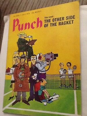 Classic Vintage Punch Magazine June 1975 'Other Side Of Racket' Tennis Interest