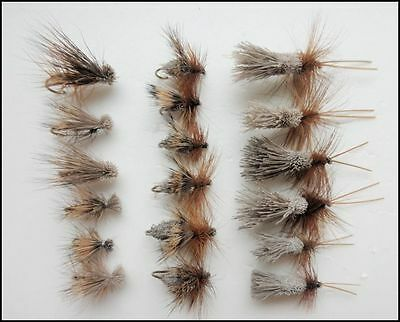 18 Sedge Trout Fishing Flies, Mixed Pack G&H,Deer and Elk Size 10 to 16,
