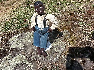 Very Rare Quincy Scarborough Black Americana Young Boy Porcelain Doll L@@k!!!