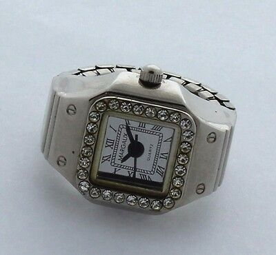 Margaux Silver color ring watch