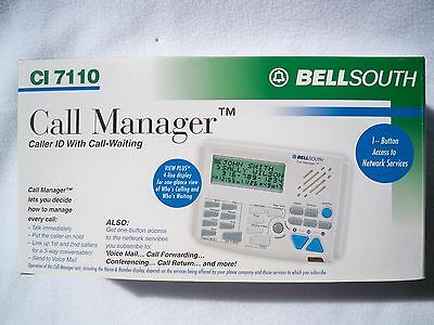 Bell South Caller ID Call manager CI 7110  Product Overview Caller ID with Call