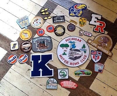 Lot Of Vintage Unused Patches, Hunting, Gasoline, Scholastic, Michigan, Police