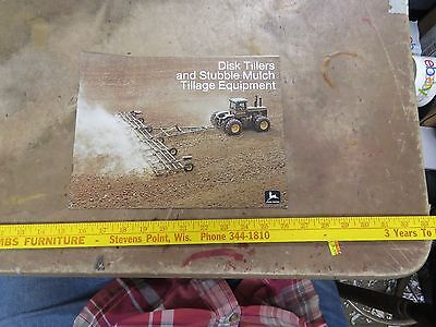 John Deere 1974 Disk Tillers & Stubble Mulch Tillage Equipment Brochure